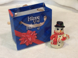Christmas bag Snowman w candy cane perfect gift 4 shut ins elderly person image 2