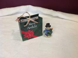Christmas bag Snowman w pine tree #2 perfect gift 4 shut ins elderly person image 2