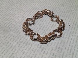 Circular Chain Silver Tone Pull Through Closure Bracelet image 2