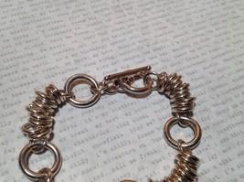 Circular Chain Silver Tone Pull Through Closure Bracelet image 3