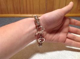 Circular Chain Silver Tone Pull Through Closure Bracelet image 7