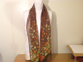 """Circles and Dots"" Summer Sheer Fabric Multicolor Scarf, colors of your choice image 2"