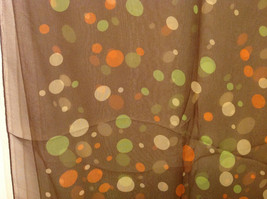 """Circles and Dots"" Summer Sheer Fabric Multicolor Scarf, colors of your choice image 6"