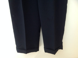 Claiborne Black Pleated 4 Pocket Dress Pants Button Zipper Closure Size 34 x 30 image 3