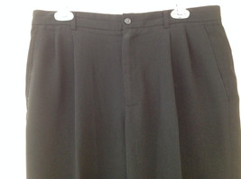 Claiborne Black Pleated 4 Pocket Dress Pants Button Zipper Closure Size 34 x 30 image 2