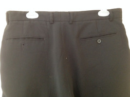 Claiborne Black Pleated 4 Pocket Dress Pants Button Zipper Closure Size 34 x 30 image 5