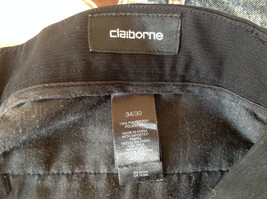 Claiborne Black Pleated 4 Pocket Dress Pants Button Zipper Closure Size 34 x 30 image 7