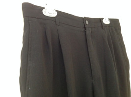 Claiborne Black Pleated 4 Pocket Dress Pants Button Zipper Closure Size 34 x 30 image 4