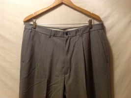 Claiborne Mens Gray Pinstriped Dress Pants, Size 38X32 image 3