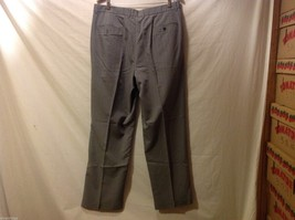 Claiborne Mens Gray Pinstriped Dress Pants, Size 38X32 image 2