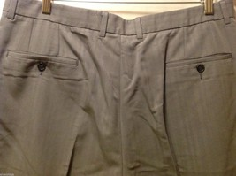 Claiborne Mens Gray Pinstriped Dress Pants, Size 38X32 image 6