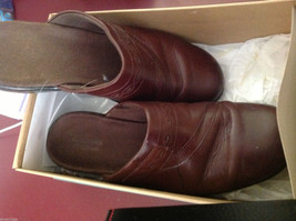 Clarks shoes brown ginger size 9M used mules image 5