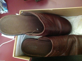 Clarks shoes brown ginger size 9M used mules image 6
