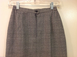 Classic Black White Plaid Fully Lined Below knee Length Pencil Skirt, Size 6 image 5