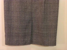 Classic Black White Plaid Fully Lined Below knee Length Pencil Skirt, Size 6 image 6