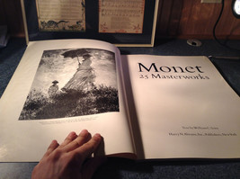Claude Monet 25 Master Works Large Book Very Very Good Condition Printed 1982 image 2
