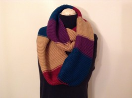 Classic bold broad Stripes in color choice bulk warm circle infinity scarf image 2