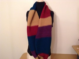 Classic bold broad Stripes in color choice bulk warm circle infinity scarf image 3