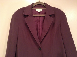 Coldwater Creek One Button Closure Violet Lined Blazer Size 14 Two Pockets image 2