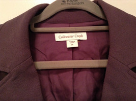 Coldwater Creek One Button Closure Violet Lined Blazer Size 14 Two Pockets image 4