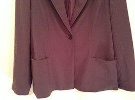 Coldwater Creek One Button Closure Violet Lined Blazer Size 14 Two Pockets image 3