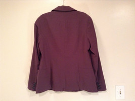 Coldwater Creek One Button Closure Violet Lined Blazer Size 14 Two Pockets image 5