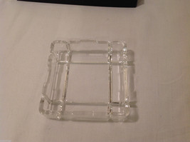 Clear Glass Coin Jewelry Tray Holder Ashtray dish top & bottom Rhinebeck Bank image 5