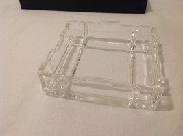 Clear Glass Coin Jewelry Tray Holder Ashtray dish top & bottom Rhinebeck Bank image 6