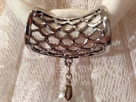 Clear Tear drop Shaped Crystal Scarf Pendant image 7