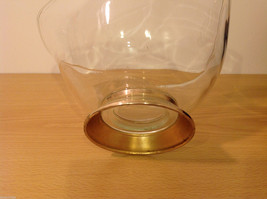 Clear Glass Dish Vase with Gold Tone Metal Stand Bottom image 5