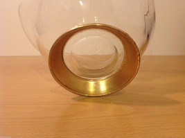 Clear Glass Dish Vase with Gold Tone Metal Stand Bottom image 7