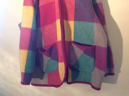Climate Zone Very Warm Purple Green Yellow Pink Sweater with Hood Size Large image 4
