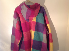 Climate Zone Very Warm Purple Green Yellow Pink Sweater with Hood Size Large image 6