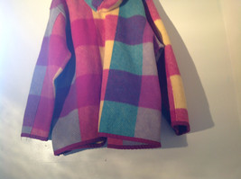 Climate Zone Very Warm Purple Green Yellow Pink Sweater with Hood Size Large image 9