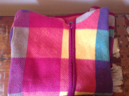 Climate Zone Very Warm Purple Green Yellow Pink Sweater with Hood Size Large image 11