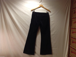 Clothes by H&M Black Wide Legged Velvety 100% Cotton Pants, Size 4 image 2
