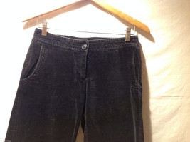 Clothes by H&M Black Wide Legged Velvety 100% Cotton Pants, Size 4 image 5