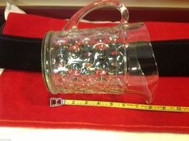 Clear glass pressed depression pitcher vintage from estate image 2