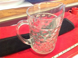 Clear glass pressed depression pitcher vintage from estate image 5