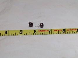 Coco Brown Genuine Pearl Stud Earrings Silver Post image 8
