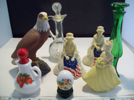 Collection of 8 Avon Perfume bottle holders and related items betsy ross eagle image 2