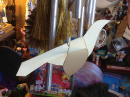 Collection of small and large cream tan and musical score paper bird ornaments image 5