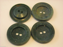 Collection of vintage buttons various materials shades of green image 2