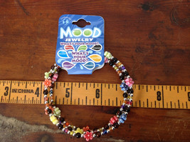 Colorful Flowers Beaded Mood Jewelry Bracelet Wire Coils Around Wrist 3 Times image 4