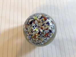 Colorful Round Blown Glass Paperweight Murano Goes Well In Any Setting image 2