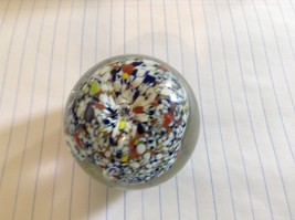 Colorful Round Blown Glass Paperweight Murano Goes Well In Any Setting image 4