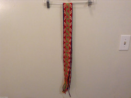 Colorful handmade tribal waistband belt or scarf image 4
