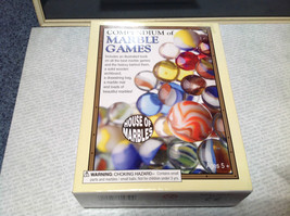 Compendium of Marble Games with Book Arch Board and Marbles NIB image 2