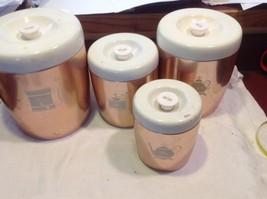 Copper West Bend 8 piece kitchen canister set image 6