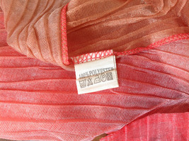 Coral Tan Watercolor Scrunched Pleated Style Fashion Scarf image 5